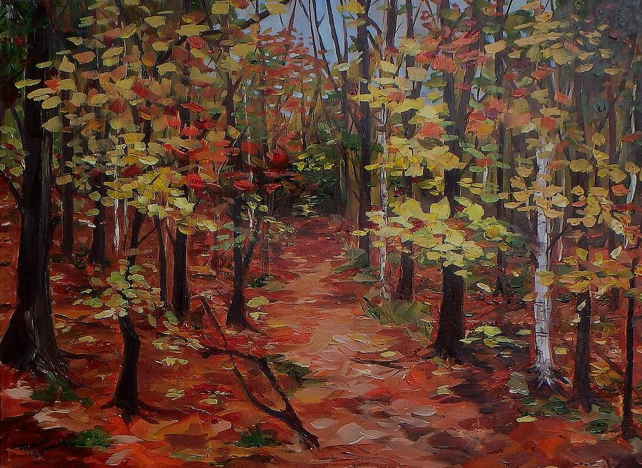 Original Painting - To The Artist Cabin, Killarney by Monica Ironside