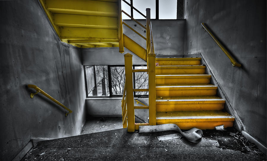 Stair Photograph - To The Higher Ground by Evelina Kremsdorf