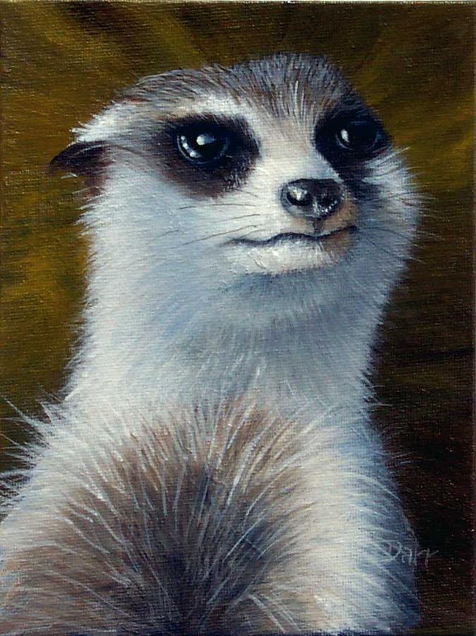 Meerkat Painting - To The Manor Born by Darr Sandberg