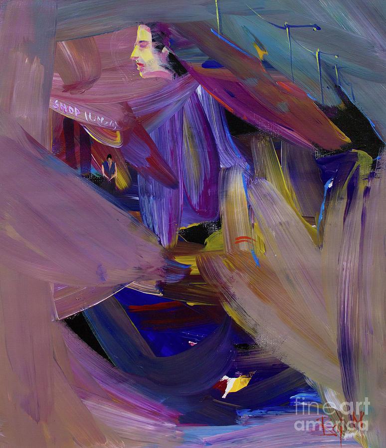 Brush Work Painting - To the Market by Raj Maji