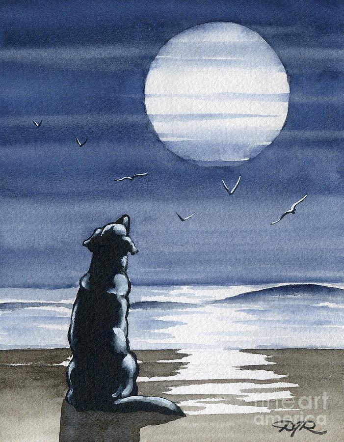 собака воет на луну картинка модно