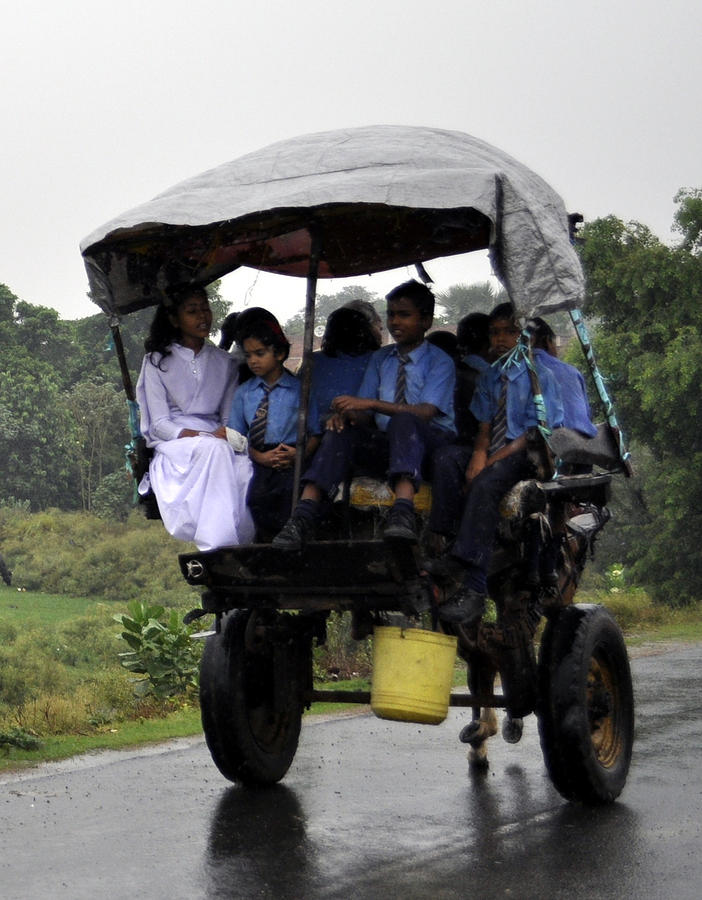 Rural Photograph - To The School by Bliss Of Art