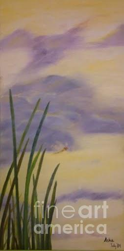 Dragonfly Painting - To The Sky by Asha Porayath