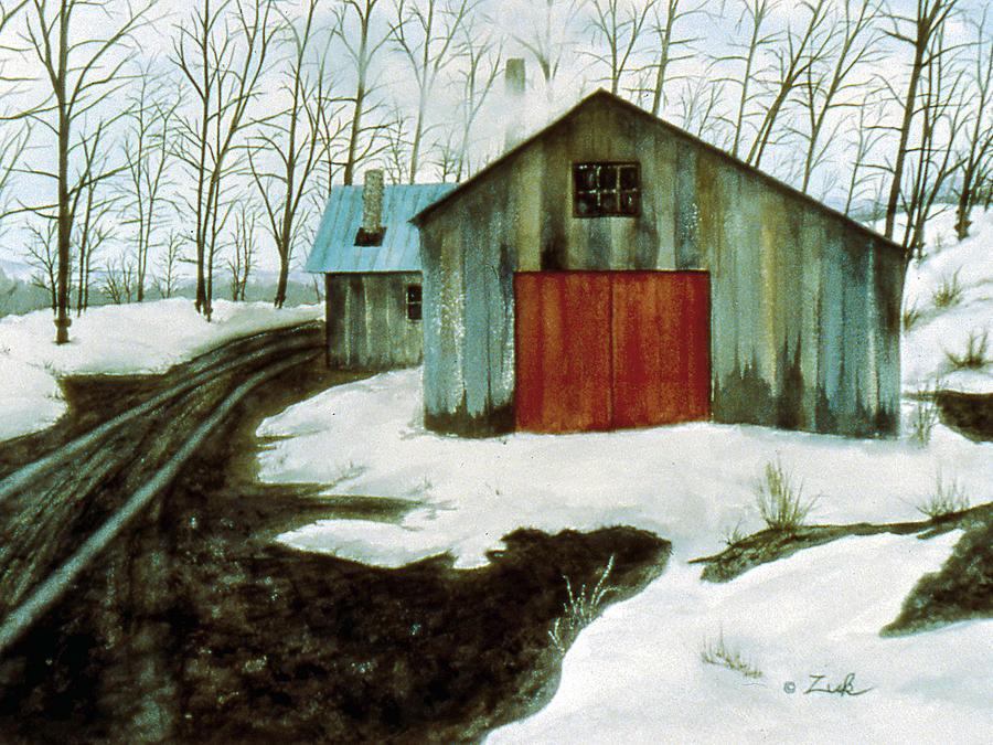 Pot Painting - To The Sugar House by Karen Zuk Rosenblatt