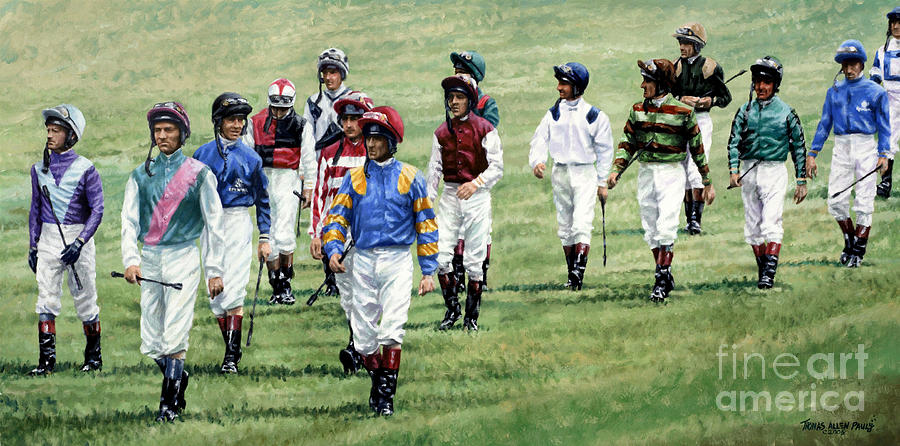 Ascot Painting - To Their Mounts by Thomas Allen Pauly