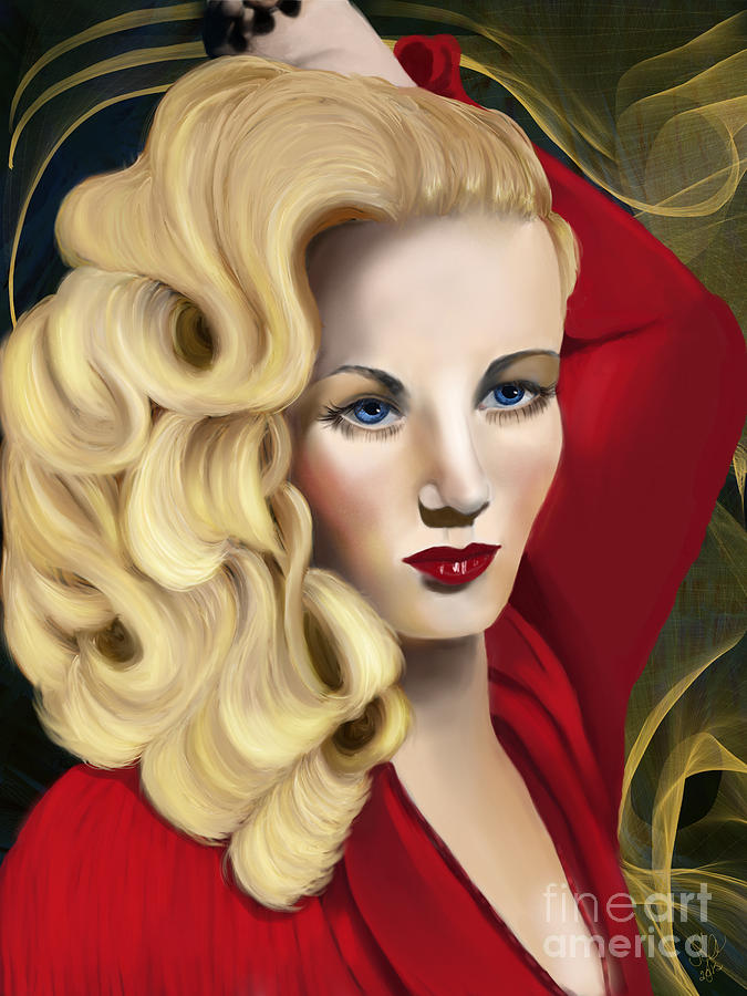 Veronica Digital Art - To Veronica Lake by Sydne Archambault