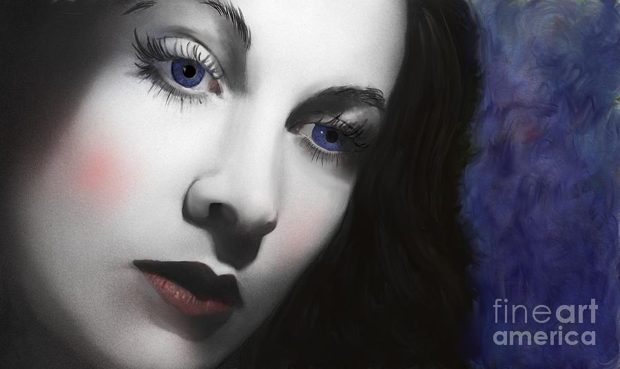 Movie Digital Art - To Vivian Leigh by Sydne Archambault