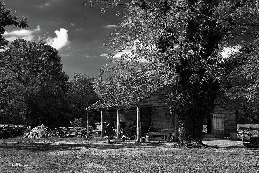 Barn Photograph - Tobacco Barn - B-w by Christopher Holmes