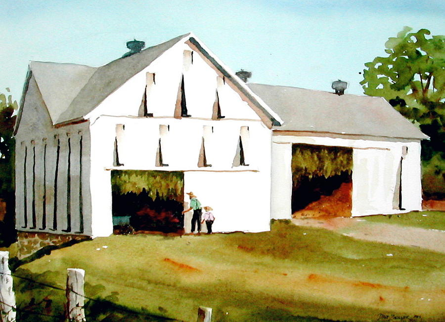 Tobacco Painting - Tobacco Barn by Faye Ziegler