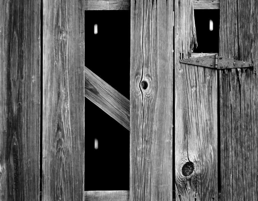 Wood Photograph - Tobacco Barn Wood Detail by Chris Berry