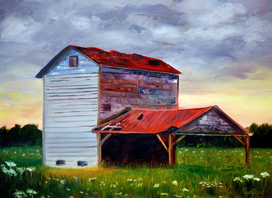 Tobacco Barn Painting - Tobacco Road by Phil Burton
