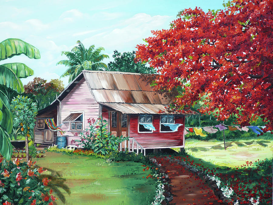 House Paintings tobago country house paintingkarin dawn kelshall- best