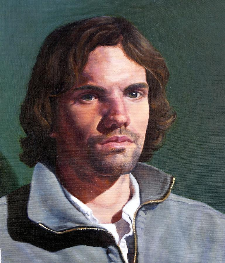 Portrait Painting - Toby by Deborah Allison