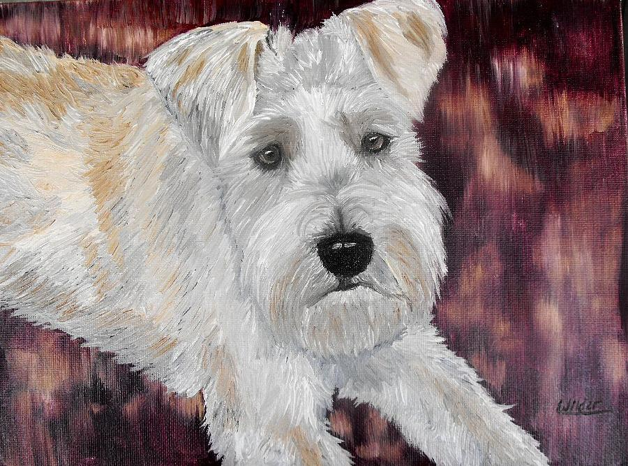 Dog Painting - Toby by Shari Wilder