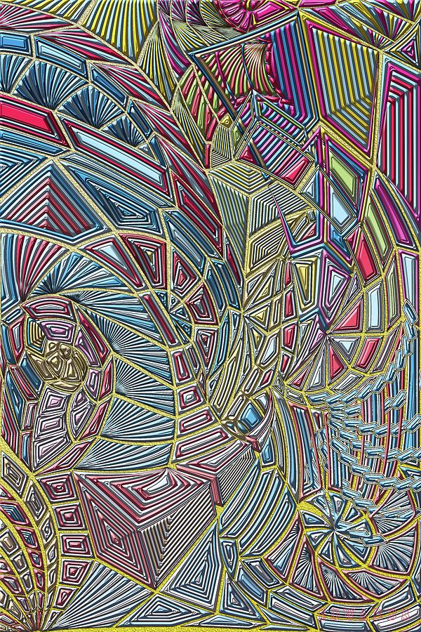 Abstract Digital Art - Today by Scott Edwards