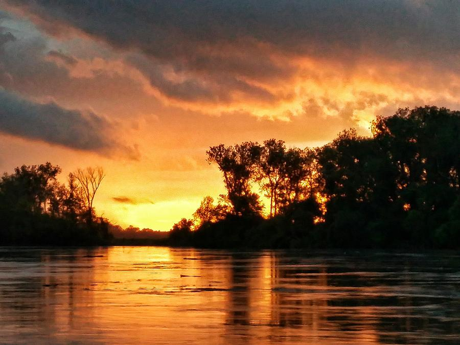 Sunrise Photograph - Todays Sunrise In Atchison.  by Dustin Soph