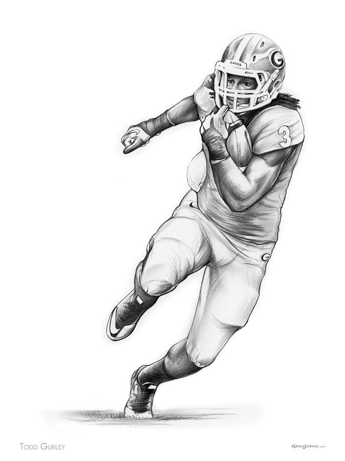 sports drawing todd gurley by greg joens - Sports Drawing Pictures
