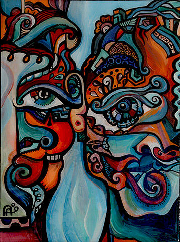 Together Painting by Alex Arshansky