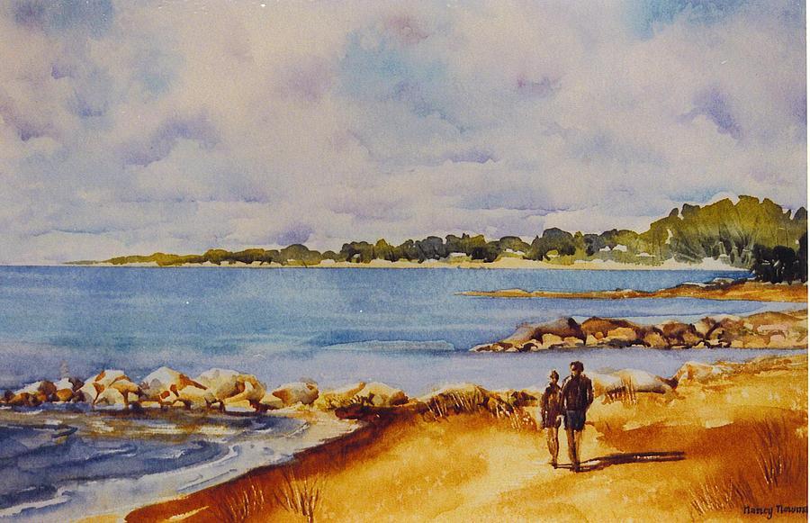 Georgian Bay Painting - Together-at-georgian-bay by Nancy Newman