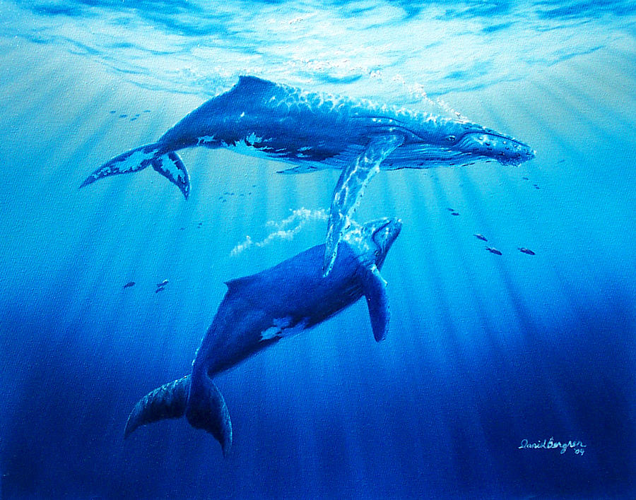 Whale Painting - Together by Daniel Bergren