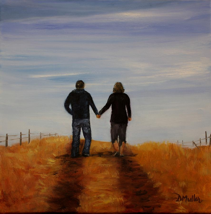 Alberta Painting - Together by Donna Muller