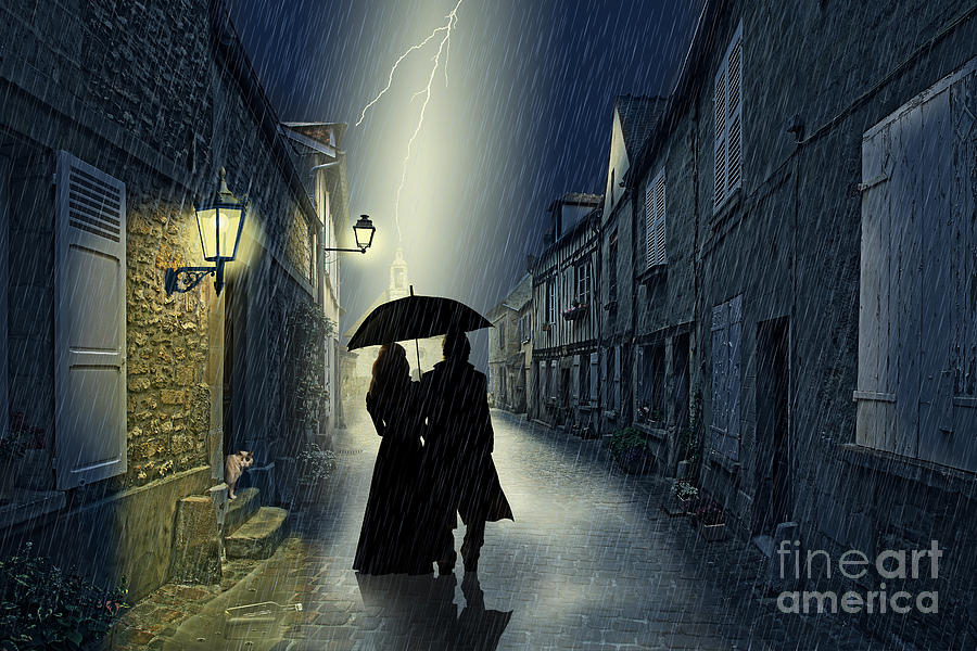 Old Town Digital Art - Together by Monika Juengling