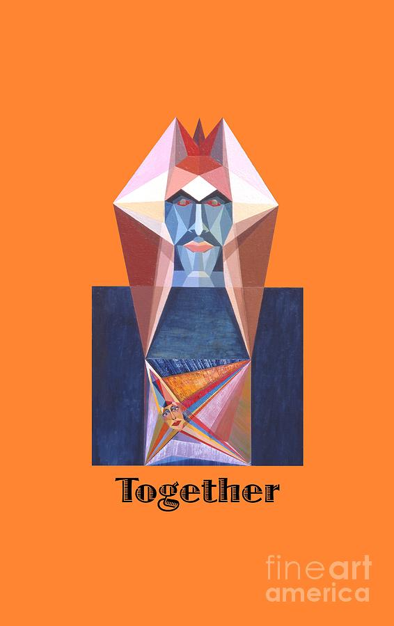 Perspectivism Painting - Together text by Michael Bellon