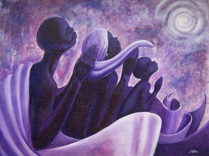 Together Painting - Together We Pray by Jerome White