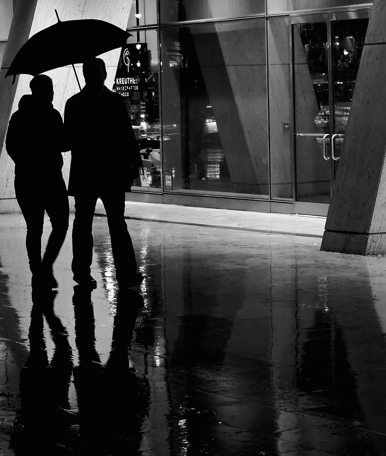 Umbrella Photograph - Together We Were  by The Artist Project