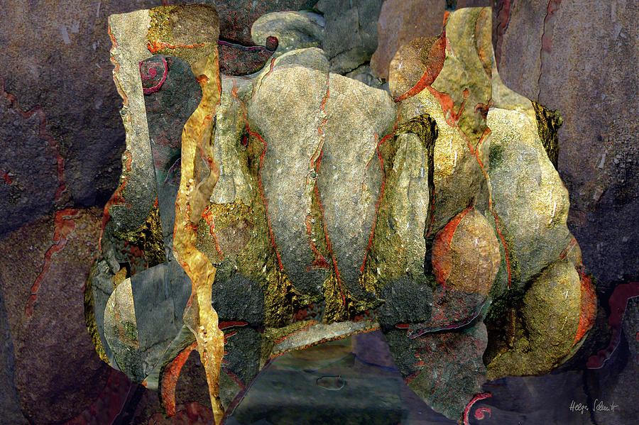 Abstract Digital Art - Togetherness by Helga Schmitt