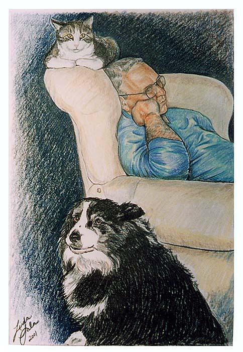 Drawing Drawing - Togetherness by Linda Sala