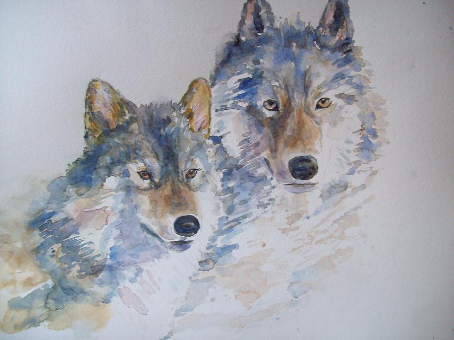 Animals Painting - Togetherness by Susan Ryder