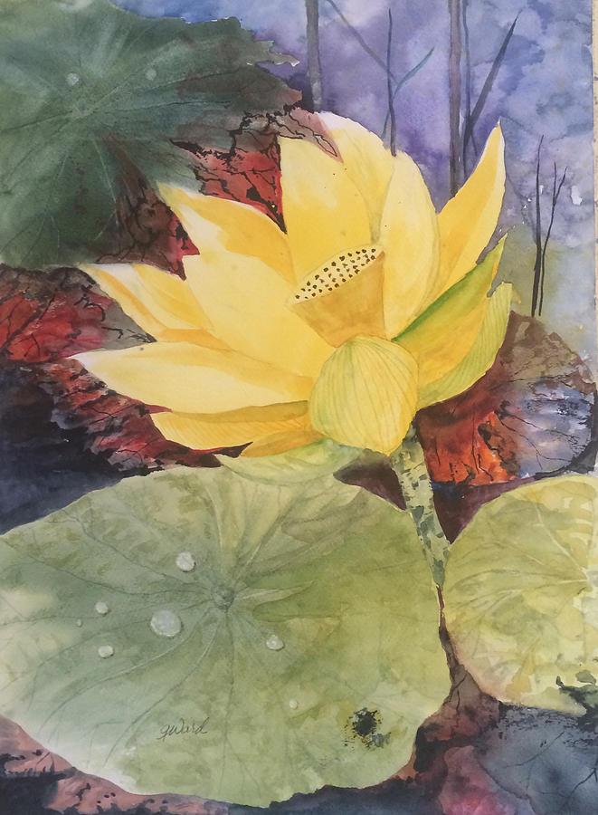 Floral Painting - Tohopekaliga Lotus 2 by Glen Ward