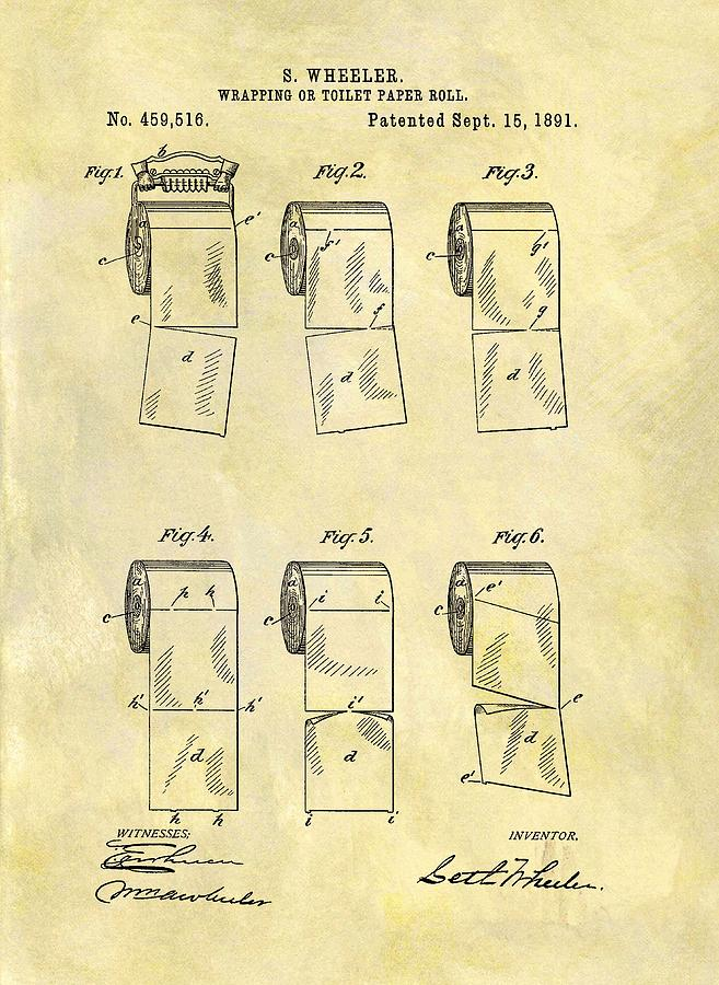 Toilet Paper Patent Illustration Drawing