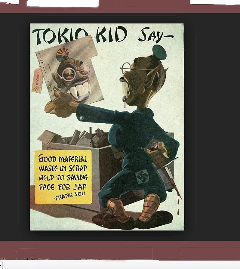 Tokio Kid Say Propaganda Poster Circa 1944 Photograph