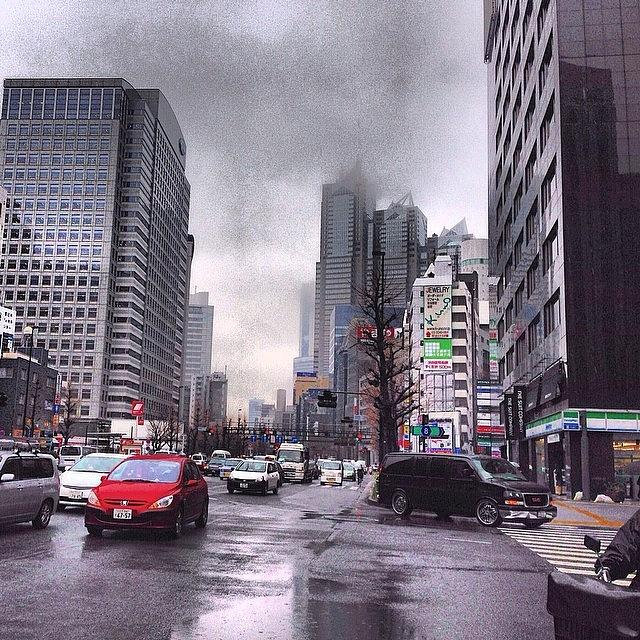 Building Photograph - Tokyo Cloudy by Moto Moto