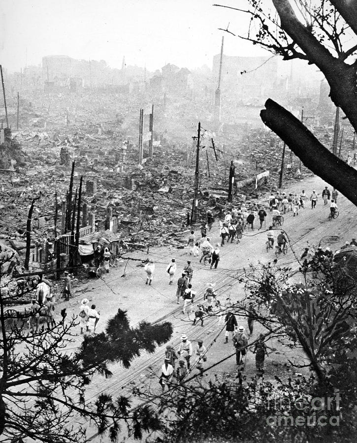 1923 Photograph - Tokyo Earthquake, 1923 by Granger