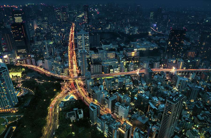 Tokyo night panorama by Ponte Ryuurui
