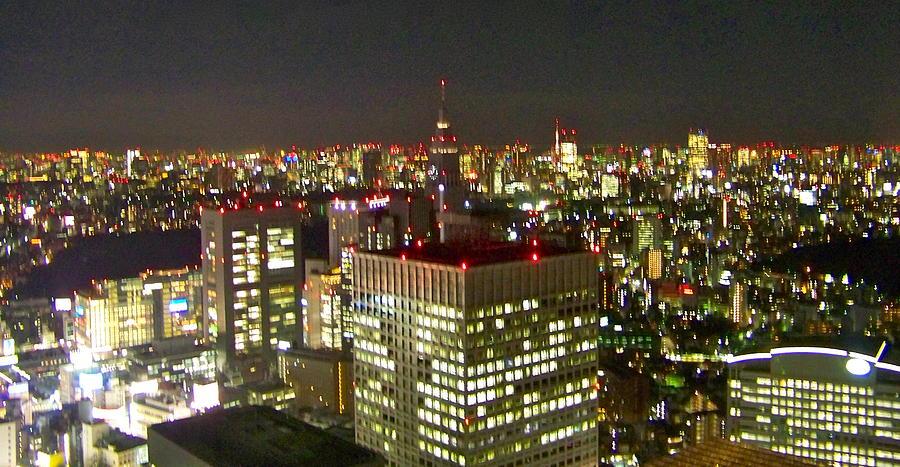 Landscape Photograph - Tokyo Skyline by Britta Loucas