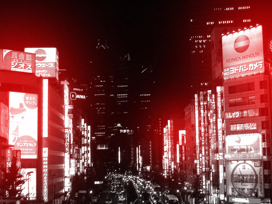 Tokyo Photograph - Tokyo Street by Naxart Studio