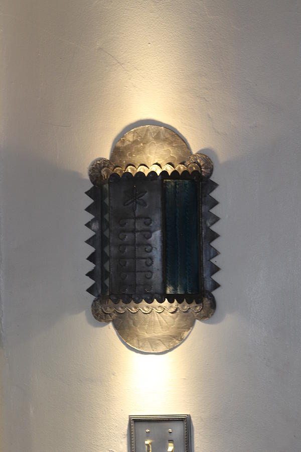 Old Fashioned Photograph - Tole Work Wall Sconce by Colleen Cornelius