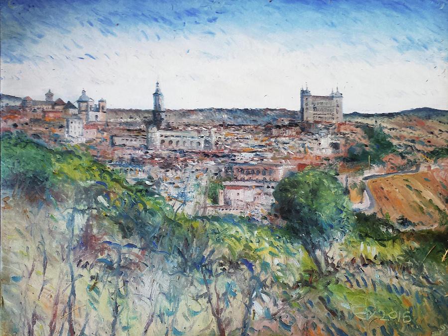 Toledo Spain Painting - Toledo Spain 2016 by Enver Larney