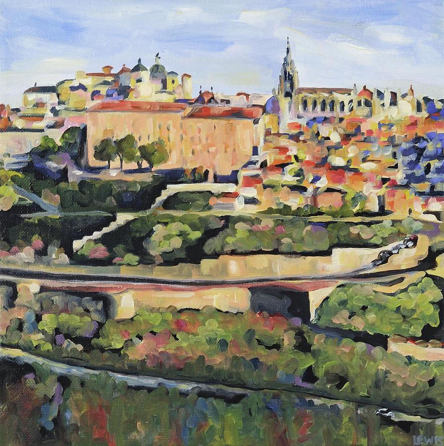 Toledo Painting - Toledo Spain by Anne Lewis