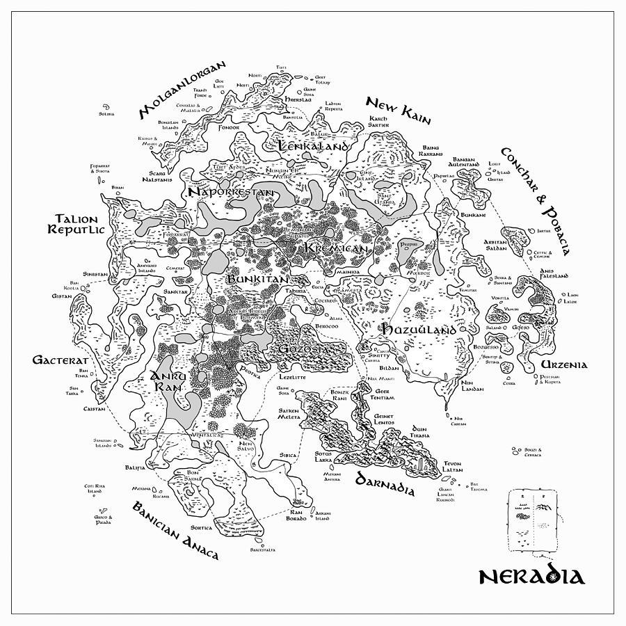 Snowflakes Digital Art - Tolkien Style Map Of Snowflakes by Martin Krzywinski