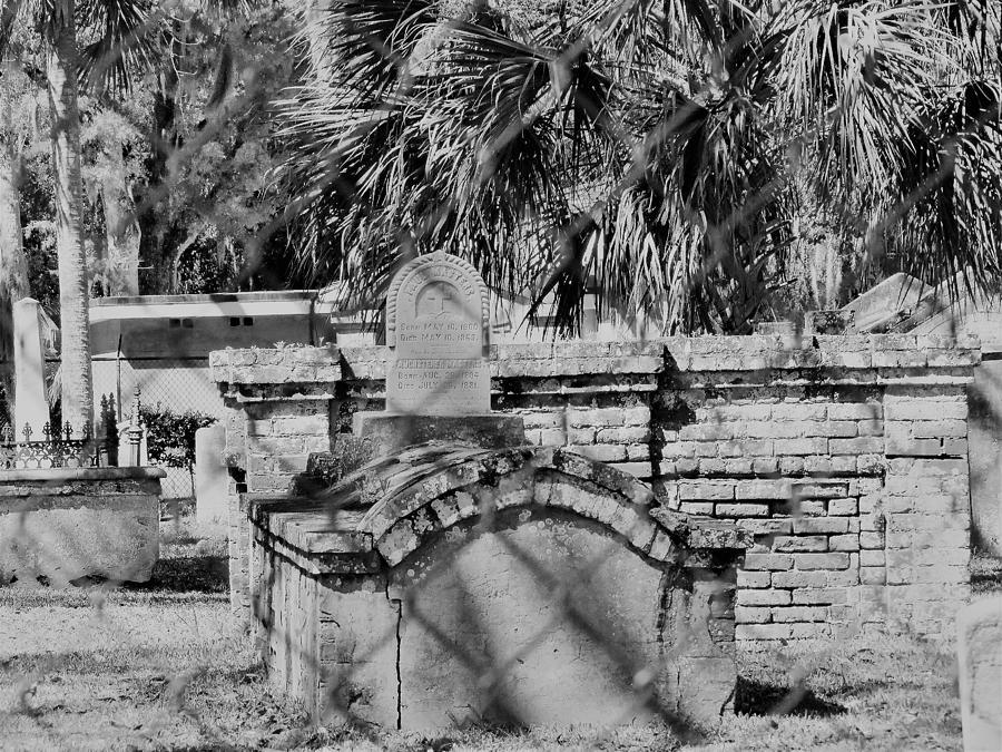 Cemetery Photograph - Tolomato Cemetry by Nancy Hopkins