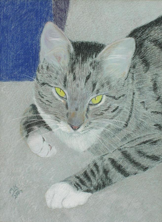Tabby Cat Painting - Tom Bombadil by Miriam A Kilmer