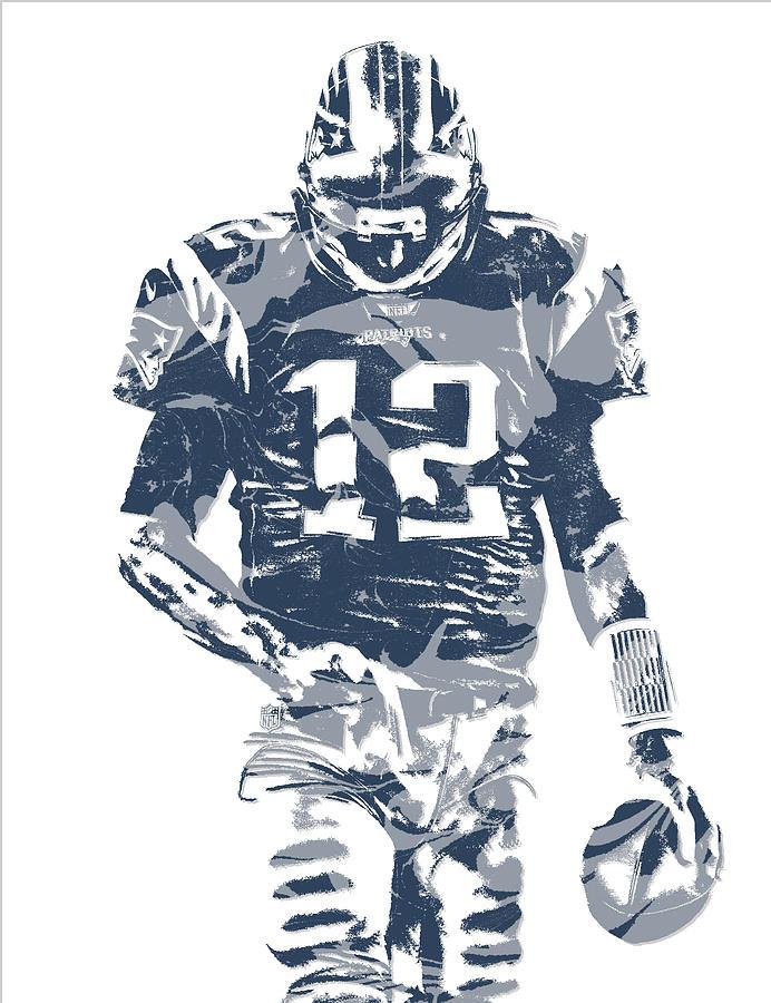 Tom Brady New England Patriots Pixel Art 12 Mixed Media By