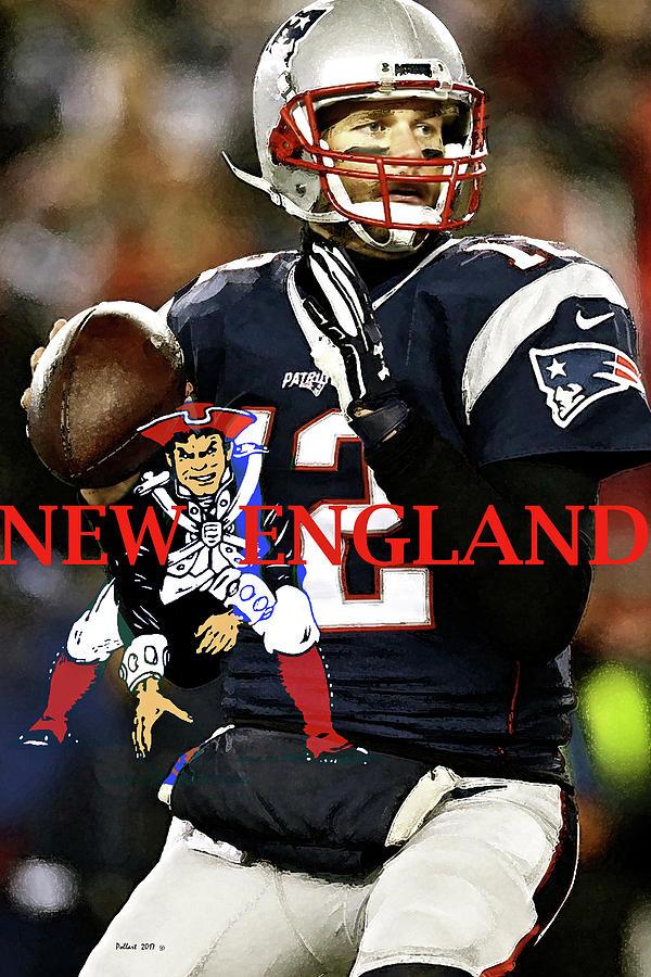 Tom Brady Number 12 New England Patriots Captain America Mixed