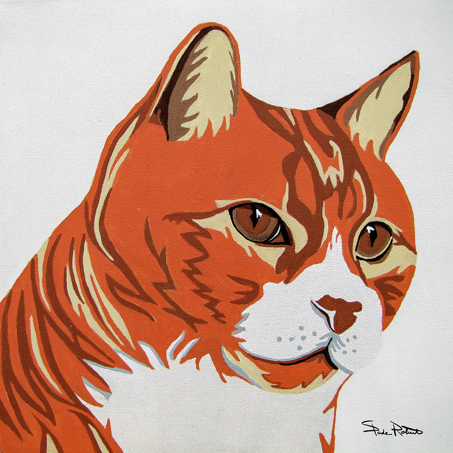 Cat Painting - Tom Cat by Slade Roberts