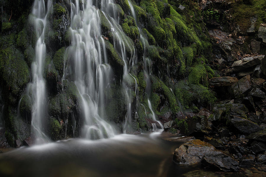 Cumbria Photograph - Tom Gill Waterfall, Cumbria, England by David Stanley